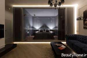 طراحی شیک فضای داخلی آپارتمان های کوچک