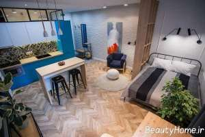 دکوراسیون شیک فضای داخلی کوچک آپارتمان