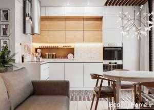 دکوراسیون عالی آشپزخانه با فضای محدود