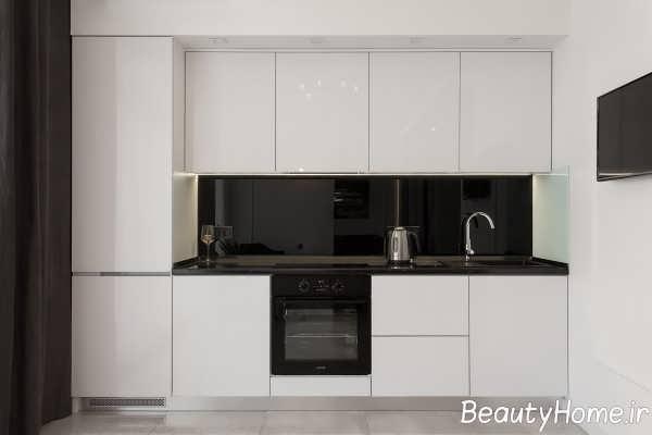 دکوراسیون مدرن آشپزخانه آپارتمان کوچک