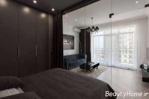 طراحی متفاوت اتاق خواب آپارتمان کوچک