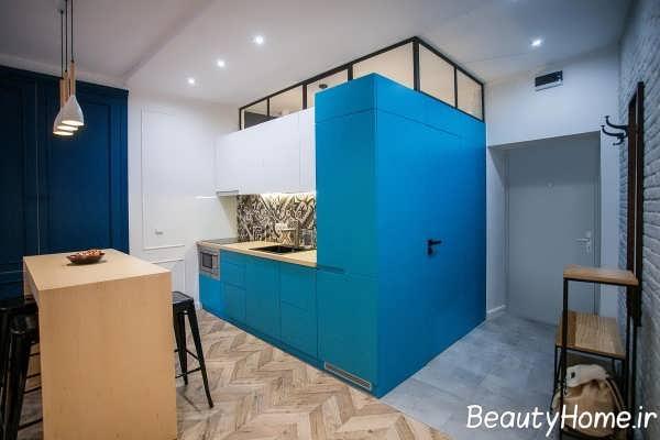 دکوراسیون متفاوت آپارتمان با فضای محدود