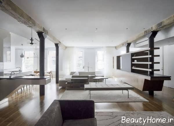 طراحی داخلی خانه ای زیبا در نیویورک