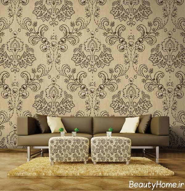 کاغذ دیواری زیبا و جذاب برای سالن پذیرایی