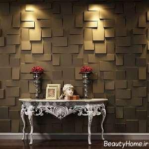 مدل کاغذ دیواری زیبا برای سالن پذیرایی