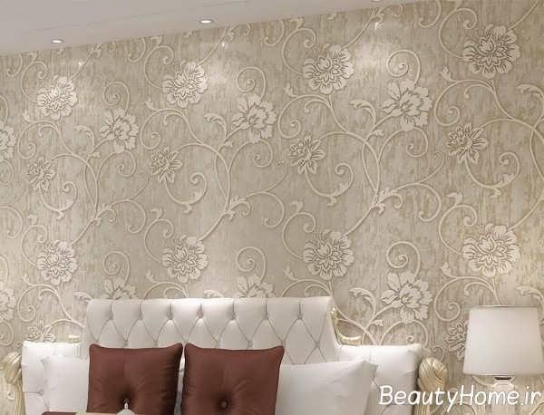 مدل کاغذ دیواری شیک و زیبا برای سالن پذیرایی