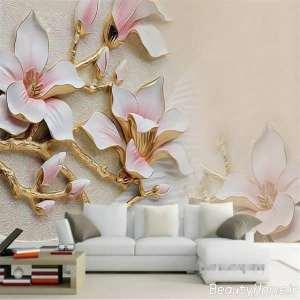 کاغذ دیواری سه بعدی برجسته