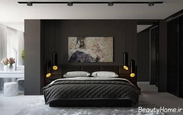 طراحی داخلی اتاق خواب قهوه ای