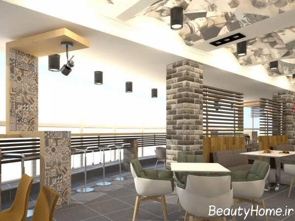 طراحی شیک فضای داخلی فست فود