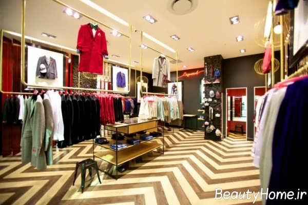 دکوراسیون کاربردی و زیبا مغازه پوشاک