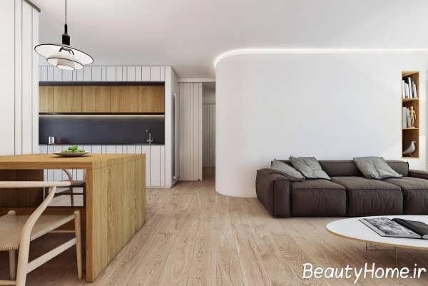 دکوراسیون شیک فضای داخلی آپارتمان