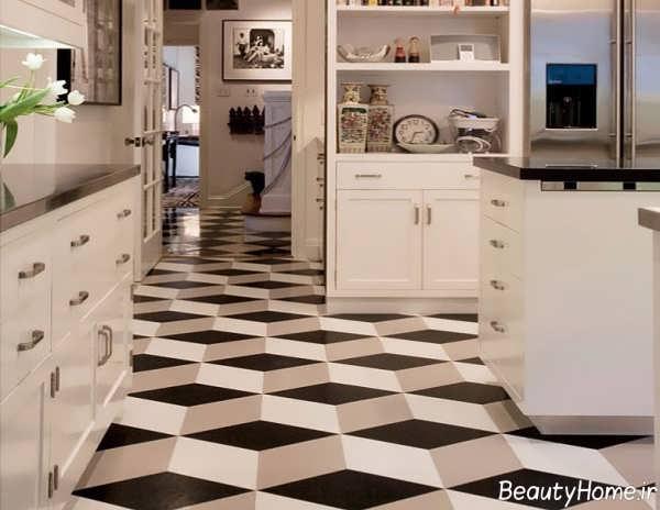 مدل کفپوش شیک و مدرن آشپزخانه