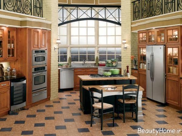 مدل کفپوش شیک و زیبا برای آشپزخانه
