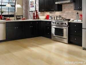 مدل کفپوش ساده و زیبا برای آشپزخانه