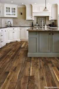 مدل کفپوش طرح چوب برای آشپزخانه