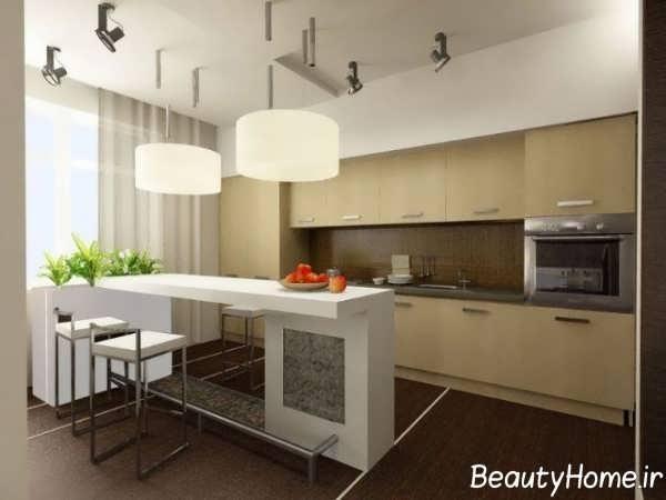 طراحی شیک فضای داخلی آشپزخانه