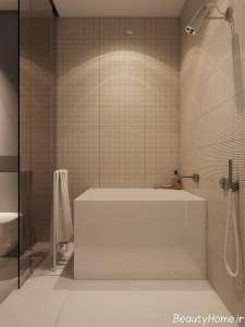 طراحی نور حمام با لامپ ال ای دی