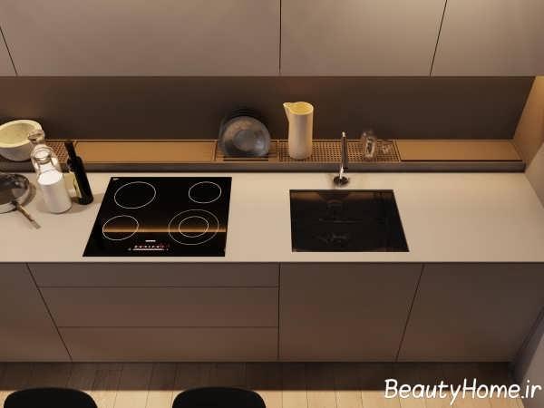 نورپردازی آشپزخانه مینیمالیستی