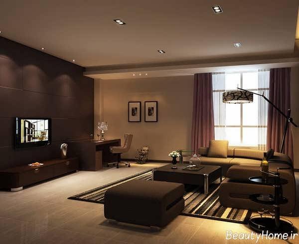 نورپردازی غیر مستقیم اتاق پذیرایی