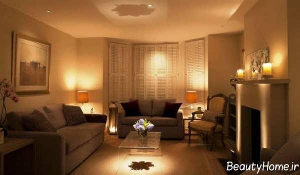 نورپردازی شیک و کاربردی اتاق پذیرایی