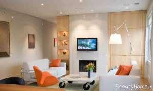 طراحی نورپردازی کاربردی و شیک در سالن پذیرایی