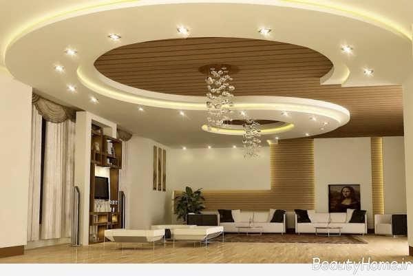 نورپردازی زیبا و کاربردی سقف پذیرایی