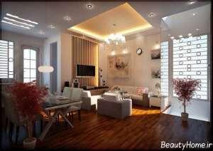 دیزاین نورپردازی سالن پذیرایی