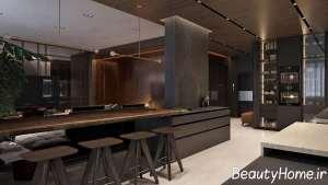 دکوراسیون آشپزخانه لاکچری با طرح های مسی