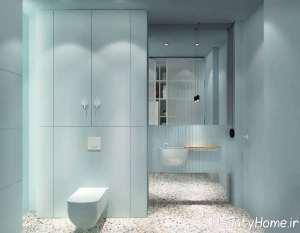 طراحی شیک فضای داخلی حمام
