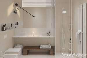 دکوراسیون زیبای حمام با طرح مینیمال