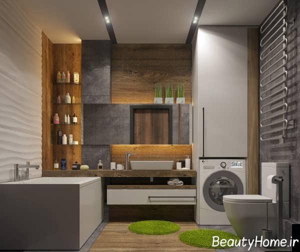 طراحی حمام ایده آل مینیمالی