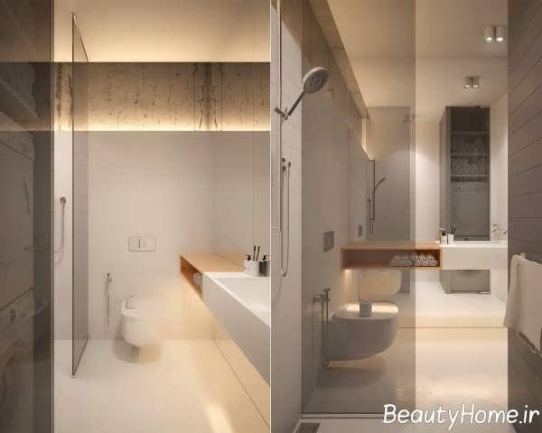 طراحی حمام لاکچری مینیمالیستی