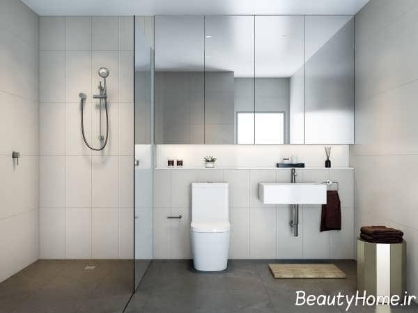 طراحی آینه حمام به سبک مینیمال