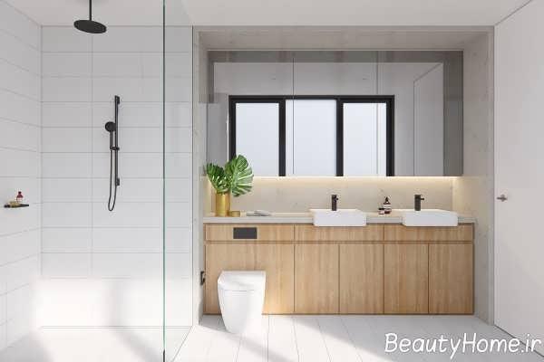 طراحی حمام با چوب