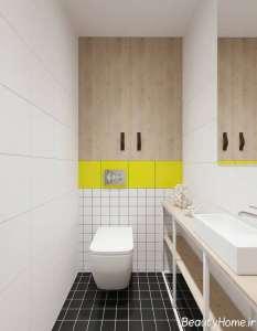 طراحی حمام و دستشویی با طرح مینیمال