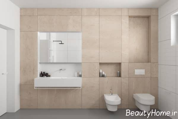 طراحی شیک مینیمالی حمام