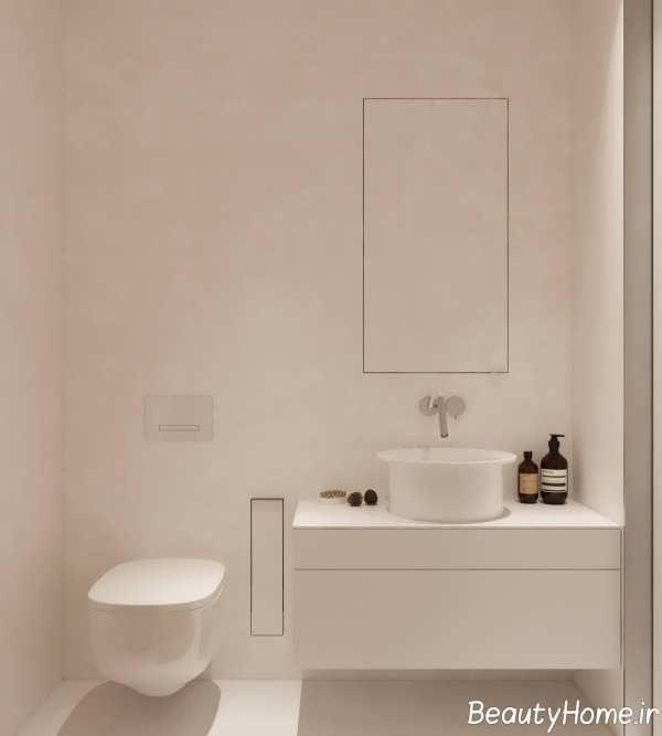 دکوراسیون شیک حمام و دستشویی مینیمال