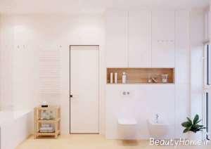 دکوراسیون شیک حمام و دستشویی با تم سفید