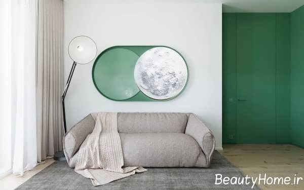 دکوراسیون محیط کاری در منزل با تم سبز
