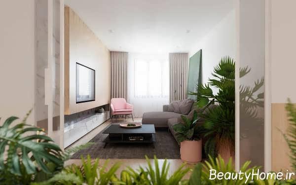 طراحی اتاق پذیرایی مینیمالیستی