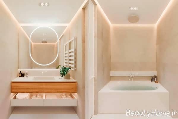 طراحی حمام به سبک مینیمالیستی