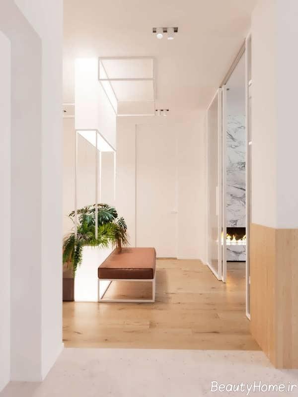 طراحی درب ورودی خانه به سبک مینیمالیستی