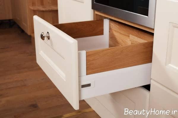 مدل کشوی ساده و زیبا کابینت