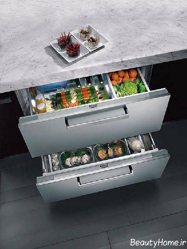مدل کشو کابینت برای نگهداری مواد غذایی