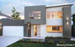نمای ساختمان های مدرن و ویلایی