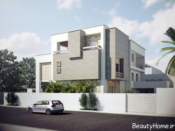 طراحی زیبا و لوکس نما ساختمان