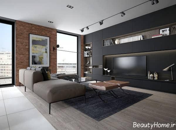 طراحی داخلی اتاق پذیرایی های مدرن