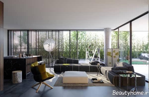 طراحی دکوراسیون اتاق پذیرایی های مدرن