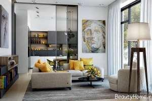 طراحی داخلی شیک و زیبا اتاق پذیرایی مدرن