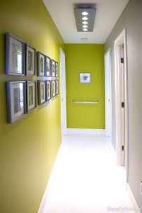 رنگ دیوار راه پله سبز مایل به زرد